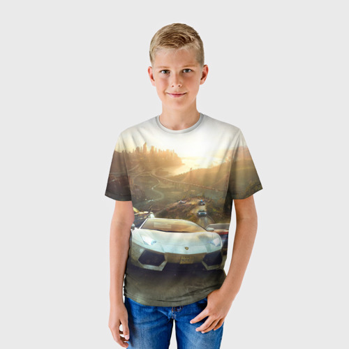 Детская футболка 3D Гонка