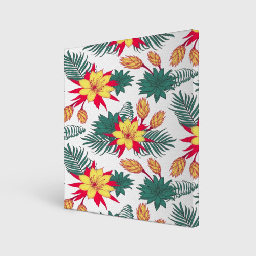 Холст квадратный  Фото 01, Tropical Pattern