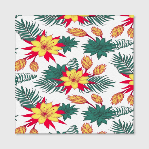 Холст квадратный  Фото 02, Tropical Pattern