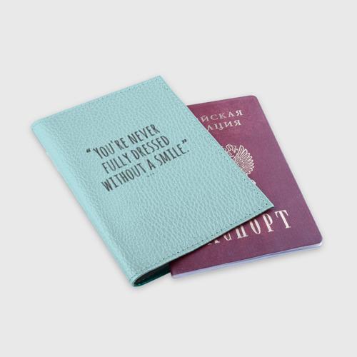 Обложка для паспорта матовая кожа  Фото 03, Сиа