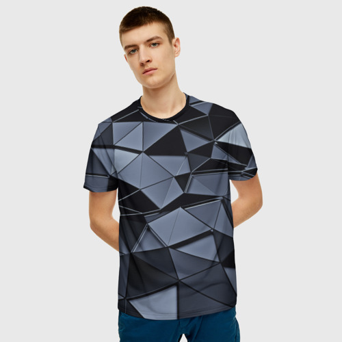 Мужская футболка 3D Abstract Gray Фото 01