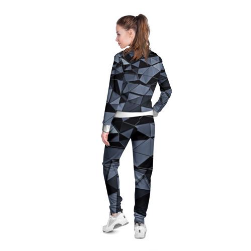 Женская олимпийка 3D  Фото 04, Abstract Gray
