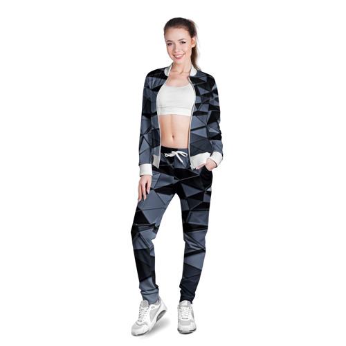 Женская олимпийка 3D  Фото 03, Abstract Gray