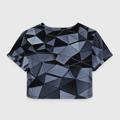 Женская футболка 3D укороченная  Фото 02, Abstract Gray