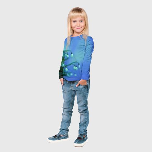 Детский лонгслив 3D  Фото 04, Подснежники