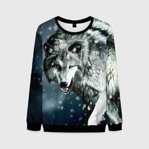 Мужской свитшот 3D Волк Фото 01