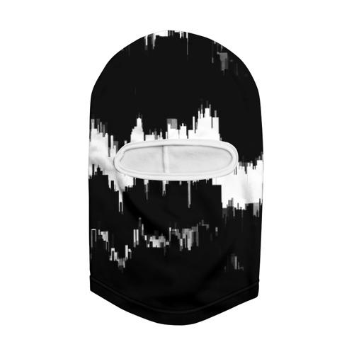 Балаклава 3D  Фото 02, Черно-белый штрих