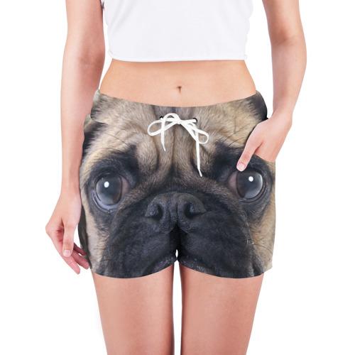 Женские шорты 3D  Фото 03, Мопс