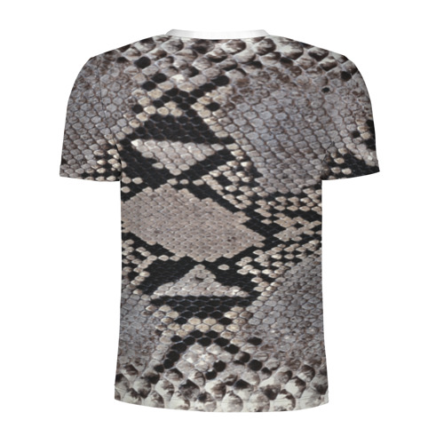 Мужская футболка 3D спортивная  Фото 02, Змеиная кожа