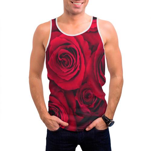Мужская майка 3D  Фото 03, Красные розы
