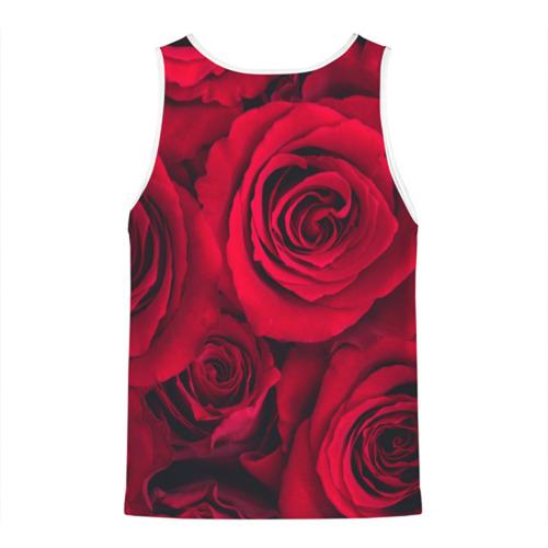 Мужская майка 3D  Фото 02, Красные розы