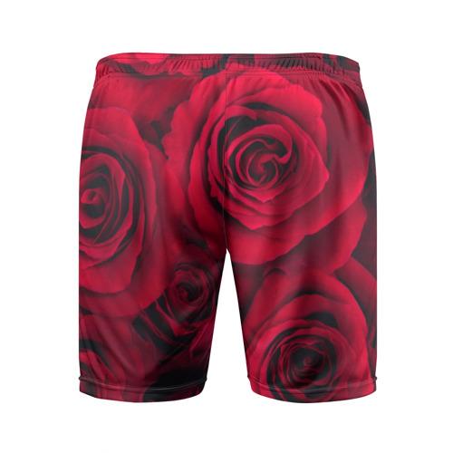 Мужские шорты 3D спортивные  Фото 02, Красные розы