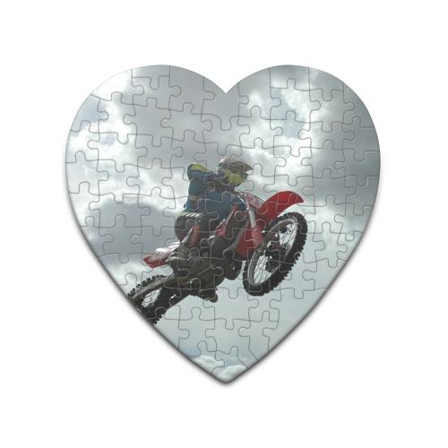Пазл сердце 75 элементов  Фото 01, Мото гонщик