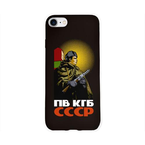 Чехол для Apple iPhone 8 силиконовый глянцевый  Фото 01, ПВ КГБ СССР