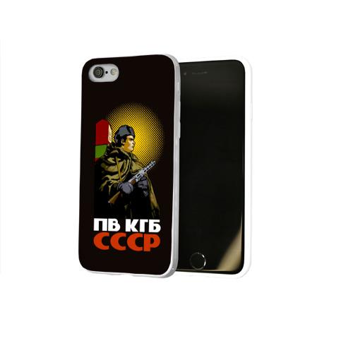 Чехол для Apple iPhone 8 силиконовый глянцевый  Фото 02, ПВ КГБ СССР