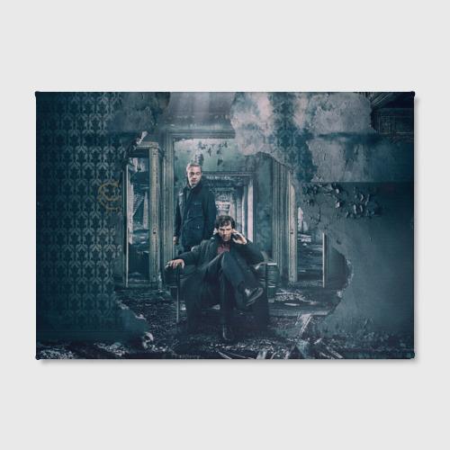 Холст прямоугольный Шерлок и Ватсон Фото 01