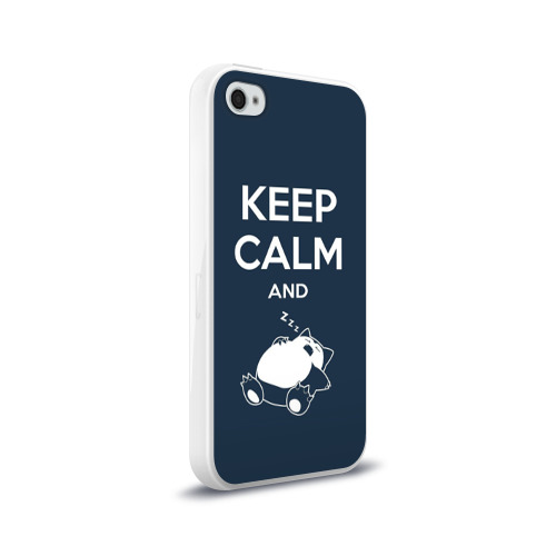 Чехол для Apple iPhone 4/4S силиконовый глянцевый Keep calm and zzz Фото 01