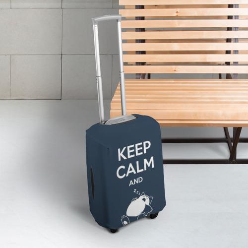 Чехол для чемодана 3D  Фото 03, Keep calm and zzz