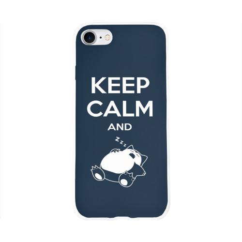 Чехол для Apple iPhone 8 силиконовый глянцевый  Фото 01, Keep calm and zzz
