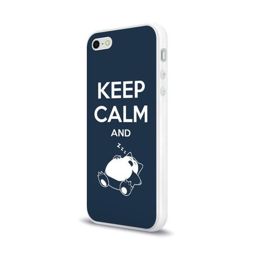Чехол для Apple iPhone 5/5S силиконовый глянцевый Keep calm and zzz Фото 01