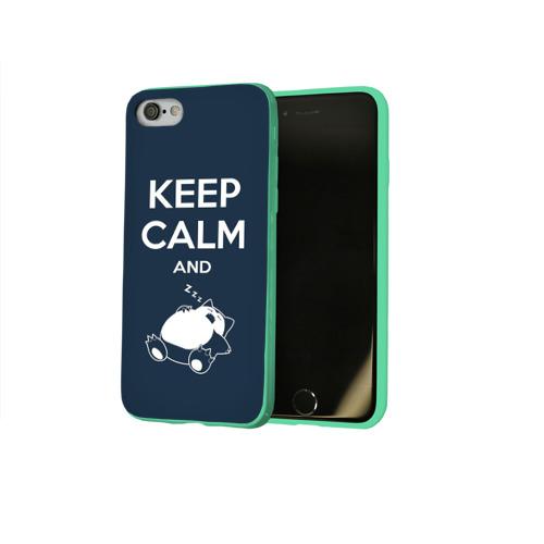 Чехол для Apple iPhone 8 силиконовый глянцевый Keep calm and zzz Фото 01