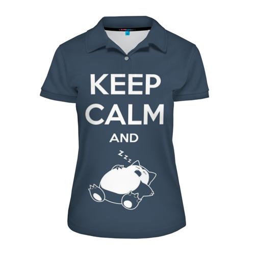 Женская рубашка поло 3D Keep calm and zzz Фото 01