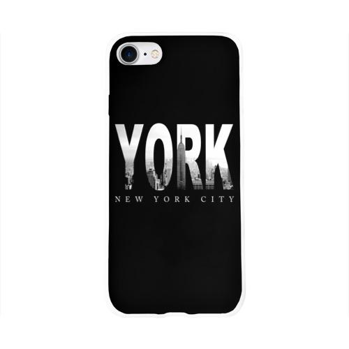 Чехол для Apple iPhone 8 силиконовый глянцевый  Фото 01, Нью-Йорк