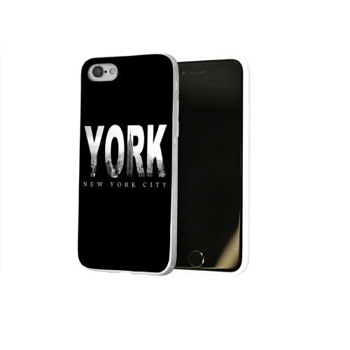 Чехол для Apple iPhone 8 силиконовый глянцевый  Фото 02, Нью-Йорк