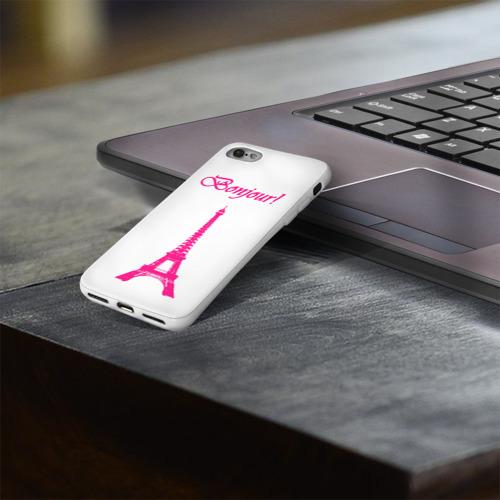 Чехол для Apple iPhone 8 силиконовый глянцевый  Фото 03, Bonjour