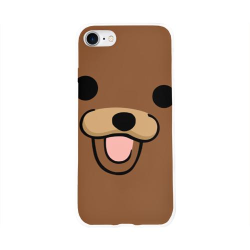 Чехол для Apple iPhone 8 силиконовый глянцевый  Фото 01, Медведь