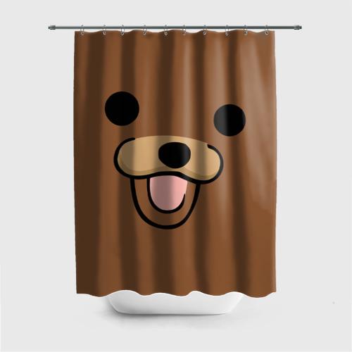 Штора 3D для ванной  Фото 01, Медведь