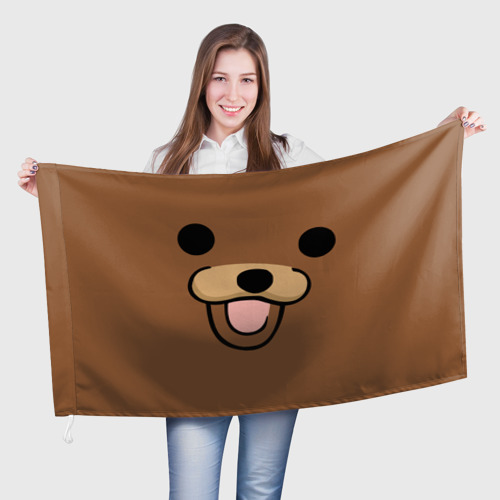 Флаг 3D  Фото 01, Медведь