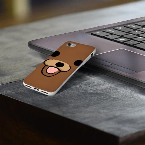 Чехол для Apple iPhone 8 силиконовый глянцевый  Фото 03, Медведь