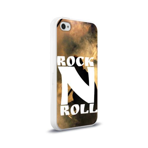 Чехол для Apple iPhone 4/4S силиконовый глянцевый  Фото 02, Rock n roll