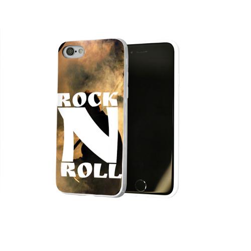 Чехол для Apple iPhone 8 силиконовый глянцевый  Фото 02, Rock n roll