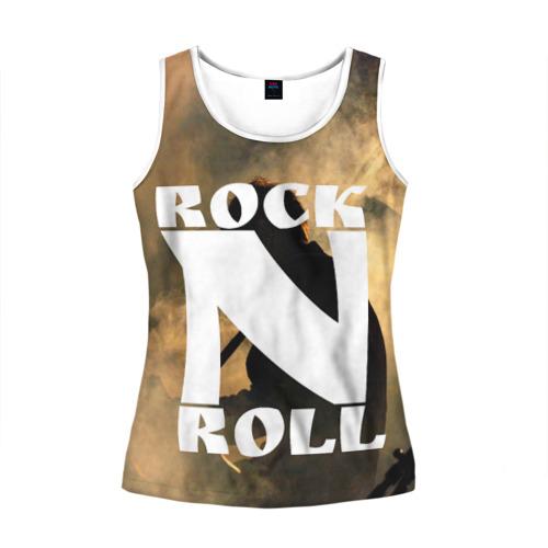 Женская майка 3D Rock n roll
