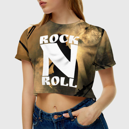 Женская футболка Cropp-top Rock n roll
