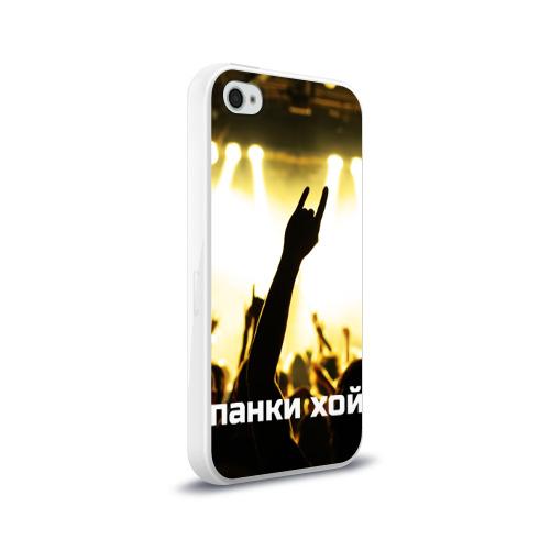 Чехол для Apple iPhone 4/4S силиконовый глянцевый  Фото 02, Панки ХОЙ
