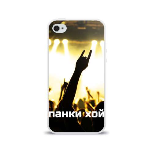 Чехол для Apple iPhone 4/4S силиконовый глянцевый  Фото 01, Панки ХОЙ