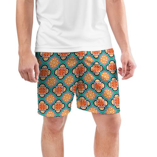 Мужские шорты 3D спортивные  Фото 03, Королевский орнамент