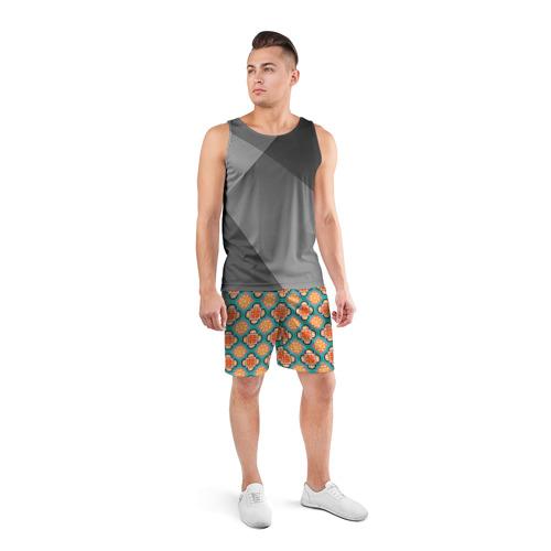 Мужские шорты 3D спортивные  Фото 04, Королевский орнамент