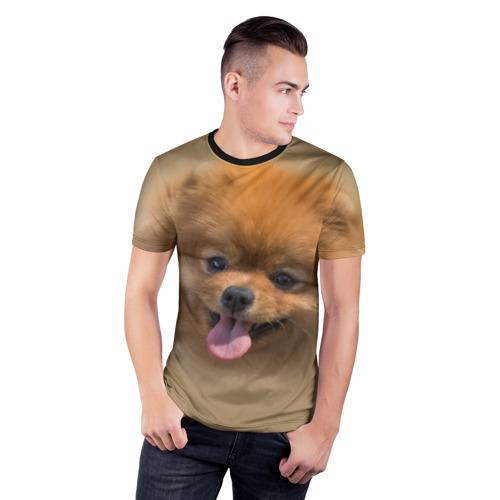 Мужская футболка 3D спортивная  Фото 03, Шпиц