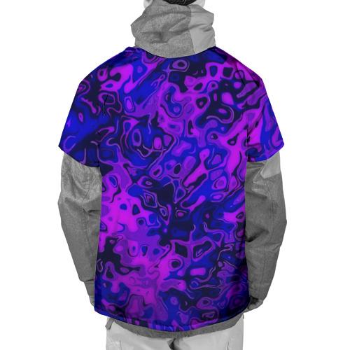 Накидка на куртку 3D  Фото 02, Фиолетовые разводы