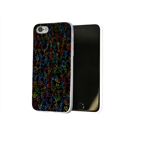 Чехол для Apple iPhone 8 силиконовый глянцевый  Фото 02, Танцующие человечки