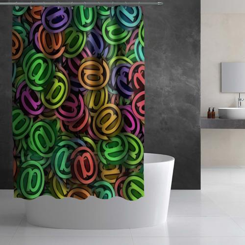 Штора 3D для ванной  Фото 03, Symbol