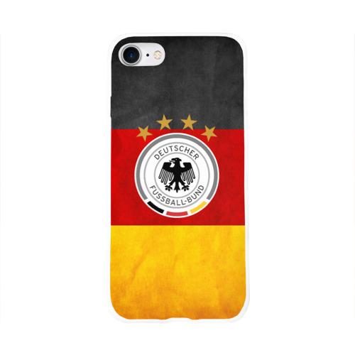 Чехол для Apple iPhone 8 силиконовый глянцевый  Фото 01, Сборная Германии
