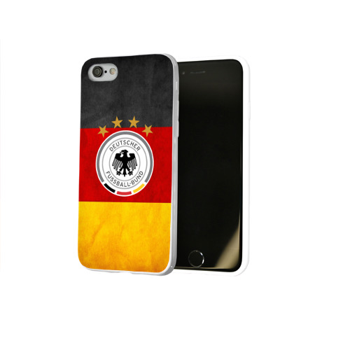 Чехол для Apple iPhone 8 силиконовый глянцевый  Фото 02, Сборная Германии