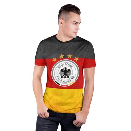 Мужская футболка 3D спортивная Сборная Германии Фото 01