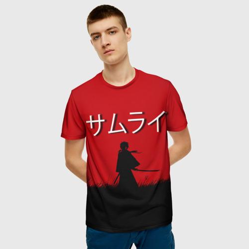 Мужская футболка 3D Самурай X Фото 01