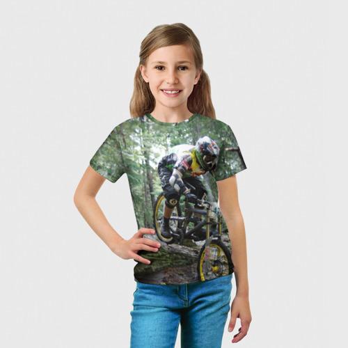 Детская футболка 3D  Фото 03, Велоспорт гонка